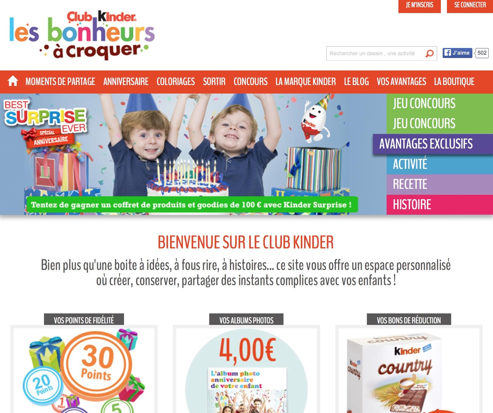 Le Club Kinder, un dispositif bien pensé dans le secteur de l'alimentation