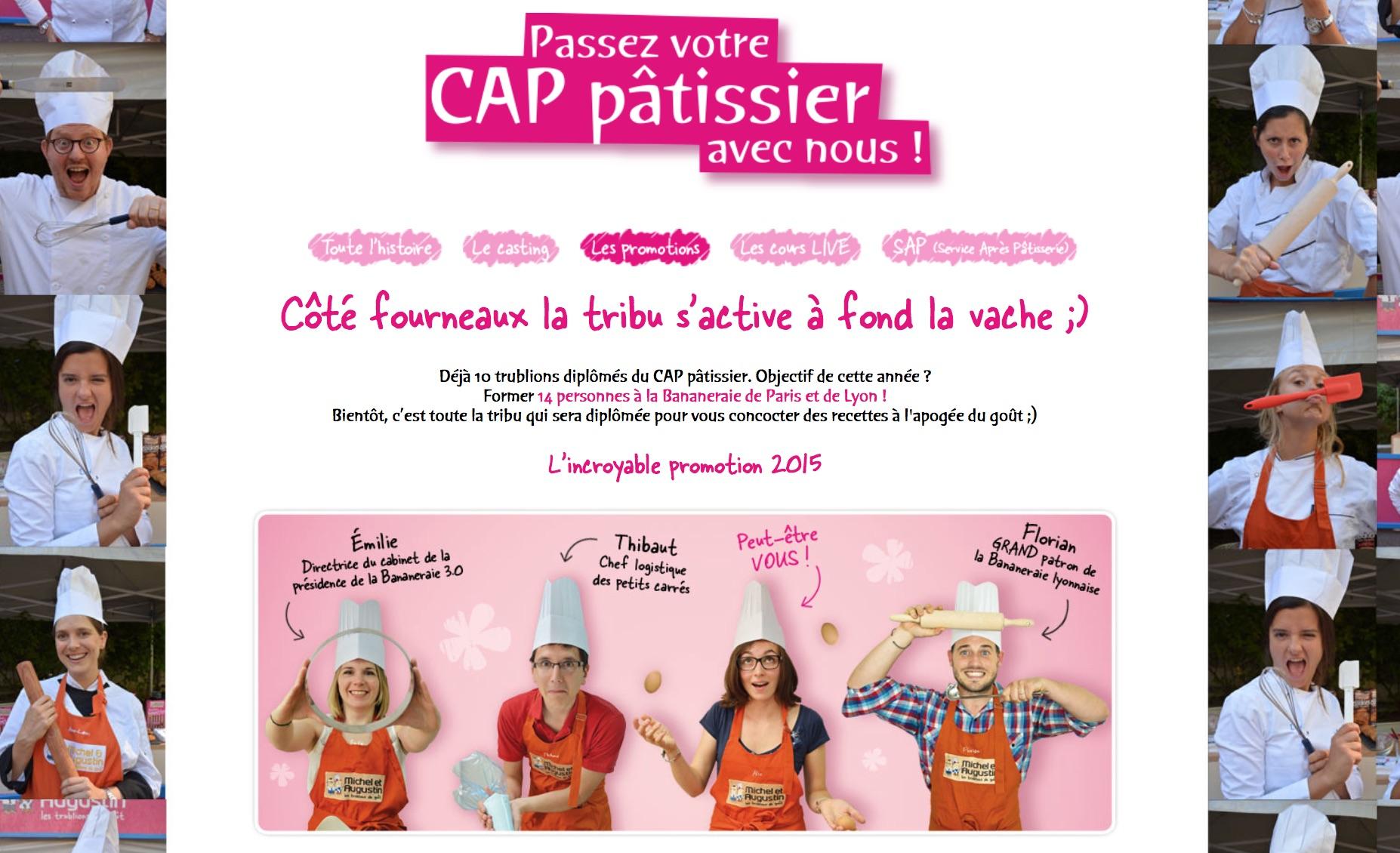 Le CAP pâtissier avec Michel et Augustin, un dispositif bien pensé dans le secteur de l'alimentation